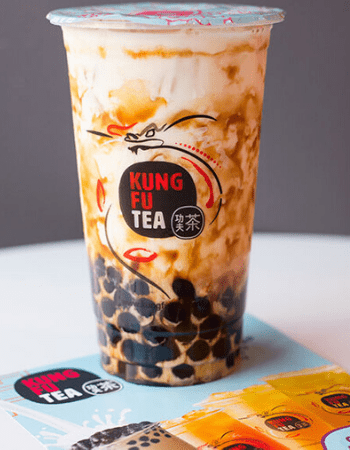 Cup of Kung Fu Tea milk tea with tapioca