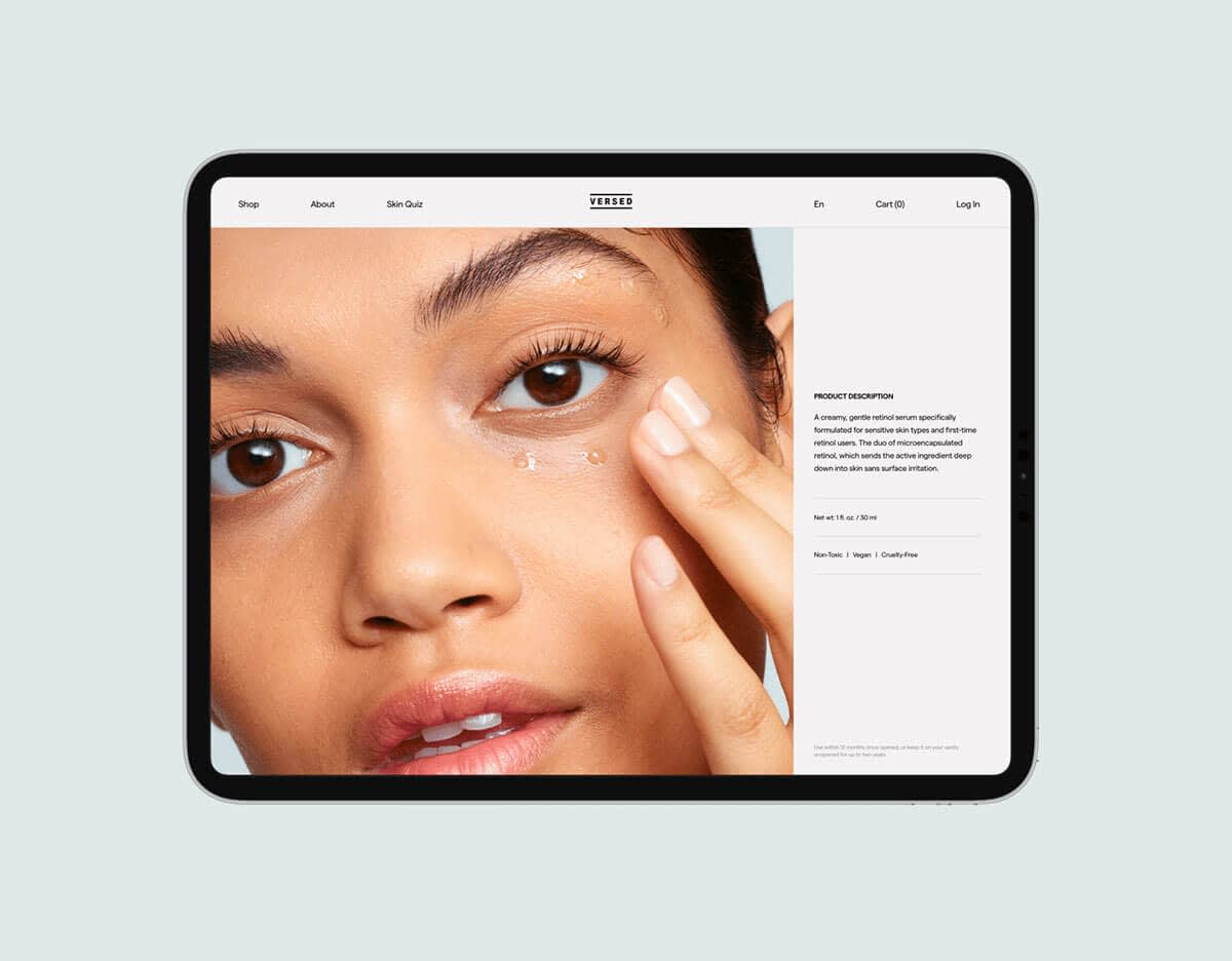 beauty ecommerce site with a modern design