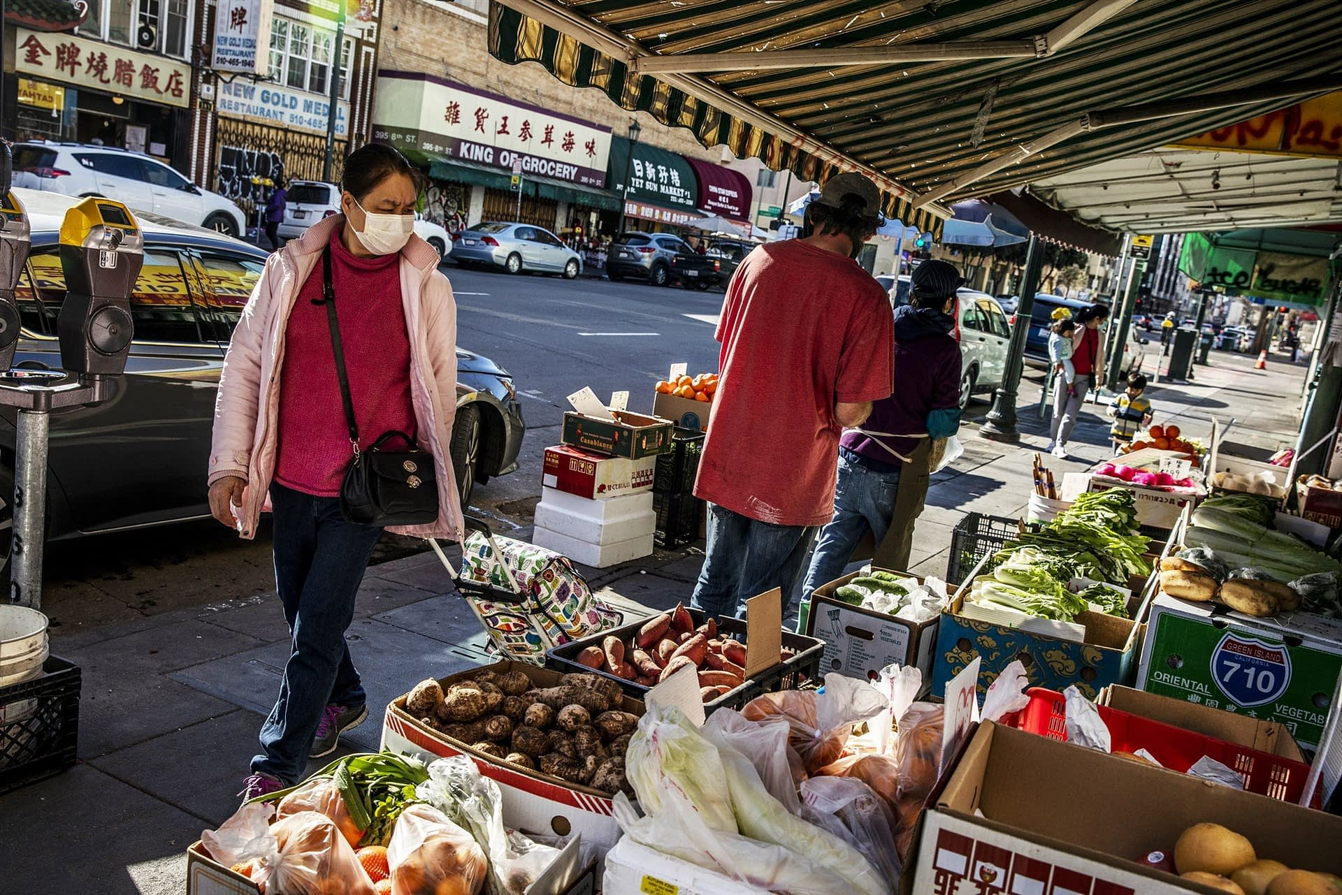 Locals shopping in Oakland Chinatown