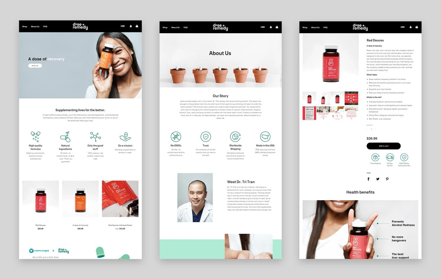 dose + remedy subpages
