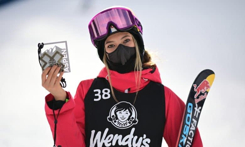 Eileen Gu competing at X games