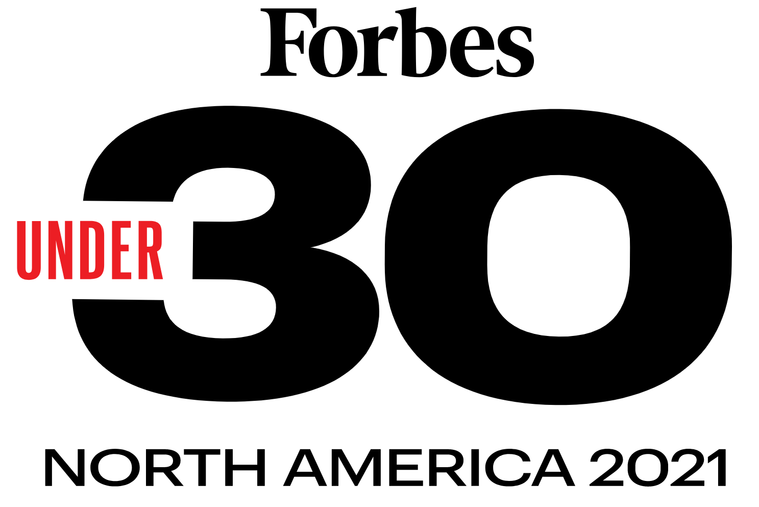 Forbes 30 under 30 North America 2021 graphic